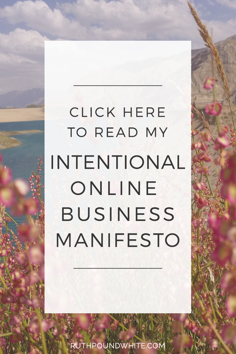 Intentional Online Business Manifesto